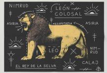 Láminas Decorativas leon de la selva